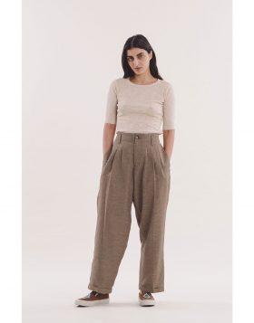 You Must Create – Keaton Check Trouser (Brown)