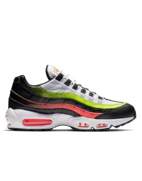 NIKE – AIR MAX 95 SE (Black/Aloe Verde – Bright Crimson-Volt)