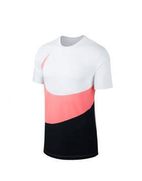 NIKE – Sportswear Swoosh T-shirt (White/Black/Pink Gaze)