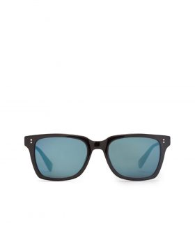 STUSSY – Angelo Sunglasses (Black/Blue Mirror)