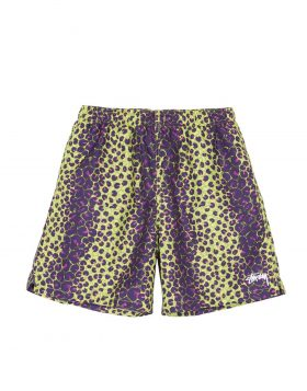 STUSSY – Leopard Water Short (Lime)