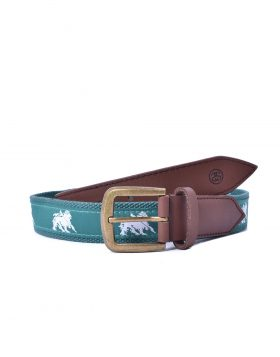 STUSSY – Needle Point Belt (Green)