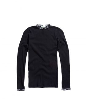 ARIES – Cotton Rib LS Top (Black)