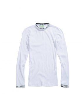 ARIES – Cotton Rib LS Top (White)