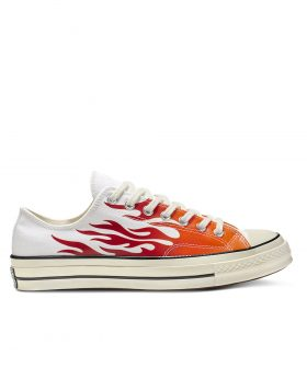 CONVERSE – Chuck 70 Archive Print Low Top (White/Enamel Red/Bold Mandarin)