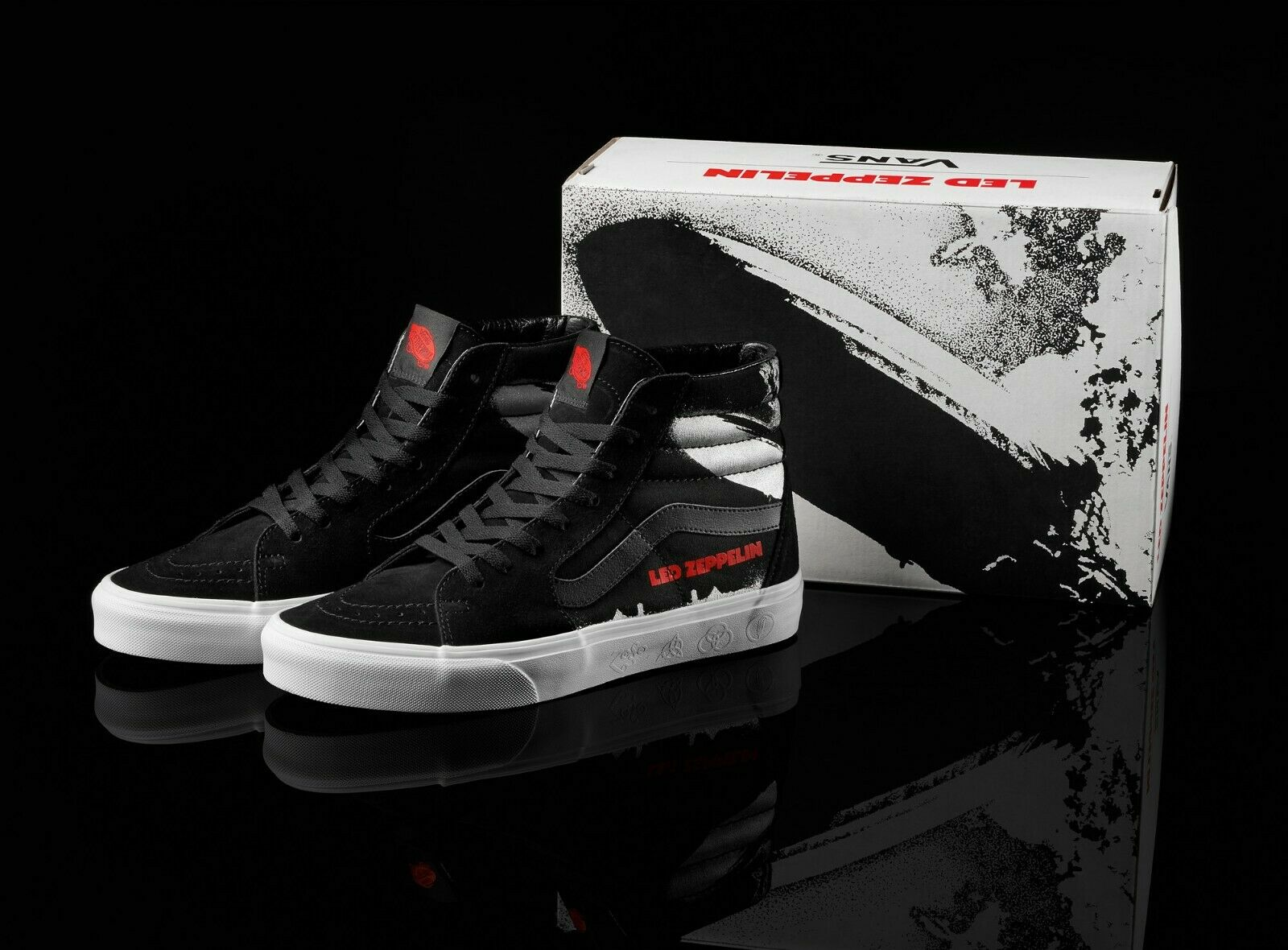 VANS Sk8 Hi (LED ZEPPELIN) BlackTrue White | Justees Bottega