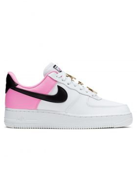 NIKE – Air Force 1 '07 SE Women (White/Black-ChinaRose)
