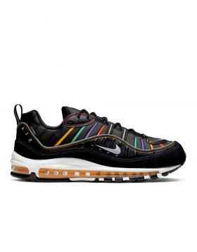 NIKE – AIR MAX 98 Premium Man (Black/Flash Crimson-Kinetic Green)