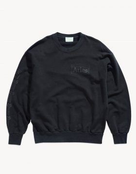 ARIES – Classic Cross Grain Temple Sweat (Black)