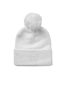 STUSSY – Pom Cuff Beanie (Off-White)