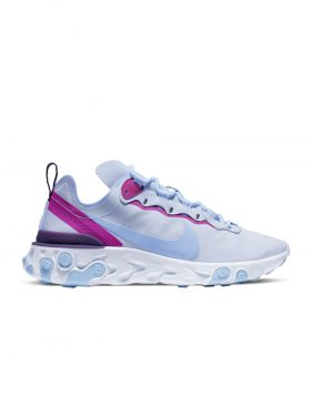 NIKE – React Element 55 Woman (Football Grey/Psychic Blue)