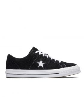 CONVERSE – One Star Premium Suede (black/white)