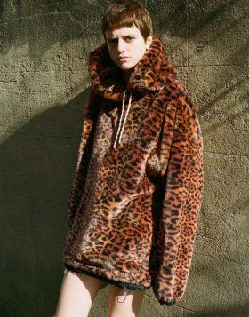 ARIES – Leopard Faux Fur Hoodie
