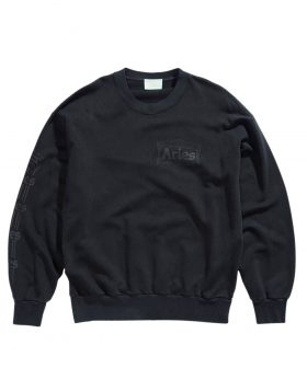 ARIES – Classic Cross Grain Temple Sweat (Black)