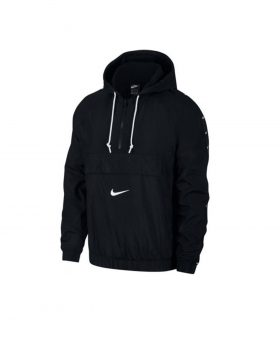 NIKE – Sportswear SWOOSH Men's Woven Jacket (Black/White)