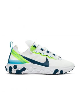 NIKE – React Element 55 Woman (White/Blue Force-Summit White)