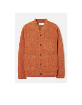 UNIVERSAL WORKS – Cardigan in Wool Fleece (Orange)