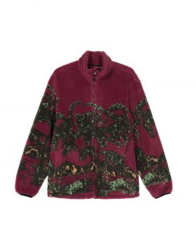 STUSSY – Hawaiian Jacquard Mock (Berry)