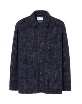 UNIVERSAL WORKS – Bakers Jacket in Alpino Pow Plaid (Navy)