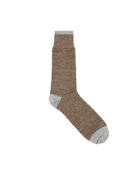 Universal Works – Socks in Alpaca Wool (Brown)