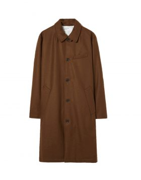 UNIVERSAL WORKS – Overcoat In Cumin Melton