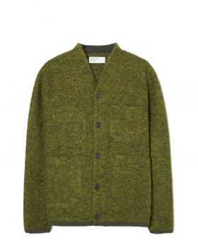 UNIVERSAL WORKS – Cardigan in Wool Fleece (Green)