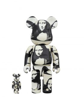 "MEDICOM TOY – Be@rbrick Andy Warhol ""Double Mona Lisa"" 100% & 400%"