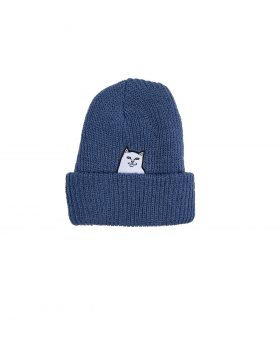 RIPNDIP – Lord Nermal Ribbed Beanie (Blue)