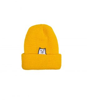 RIPNDIP – Lord Nermal Ribbed Beanie (Gold)