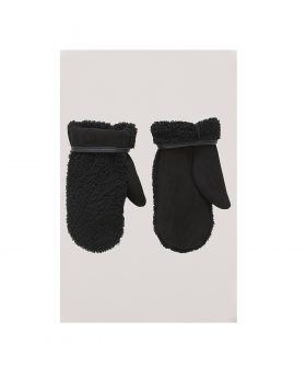 You Must Create – Sheepskin Mittens Woman (Black)