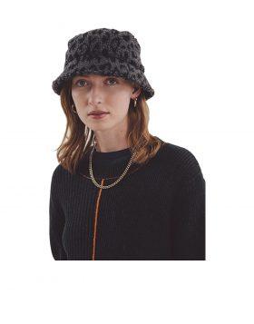 You Must Create – Leopard Bucket Hat Unisex (Grey/Navy)