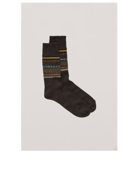 You Must Create – Fairisle Socks (Brown)