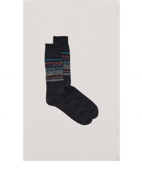 You Must Create – Fairisle Socks (Navy)
