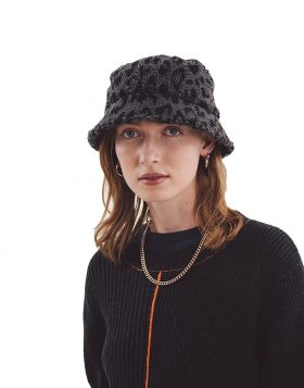 You Must Create – Leopard Bucket Hat Unisex (Grey/Navy)