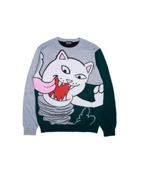RIPNDIP – Nermanian Devil Sweater Heather (Green)