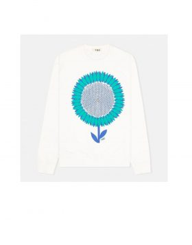 You Must Create – Sweatshirt Flower Print (White)