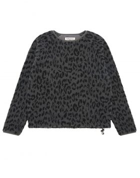 You Must Create – Deliverance Leopard Fleece Woman (Grey/Navy)