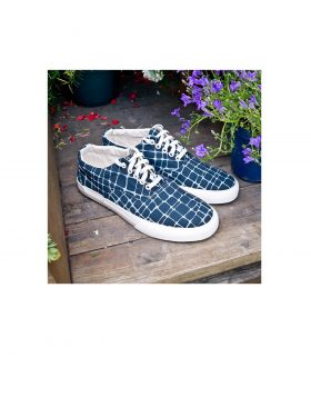 You Must Create- Giraffe Blue Print Sneakers (Navy)