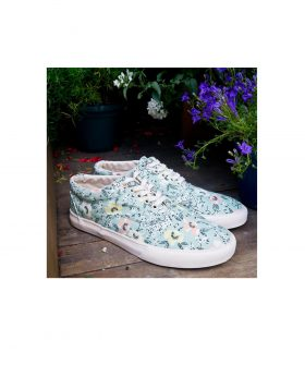 You Must Create – Flower Sneakers (Green)