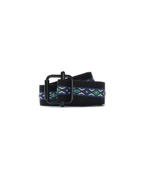 STUSSY – Woven Taped Web Belt (Black)