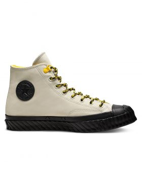 CONVERSE – Unisex Bosey Water-Repellent Chuck 70 High Top (Birch Bark/Vivid Sulfur/Black)