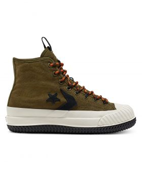 CONVERSE – Unisex Bosey MC High Top (Surplus Olive/Campfire Orange)