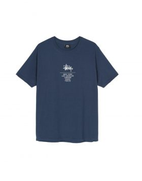 STUSSY – City Stack Tee (Navy)