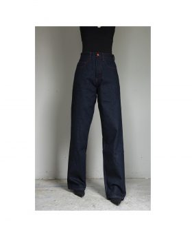 BE WIDER – Dark Blue Denim Red Stitches