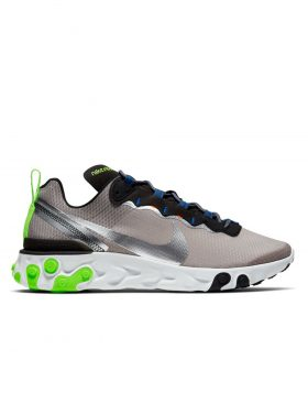 NIKE – Nike React Element 55 SE (Pumice/Metallic Silver-Total Orange)