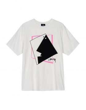 STUSSY – Square Face Pig Dyed Tee (Natural)