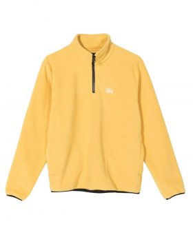 STUSSY – Basic Polar Fleece Mock (Mustard)