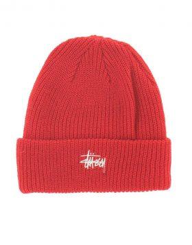 STUSSY – Basic Cuff Beanie (Red)