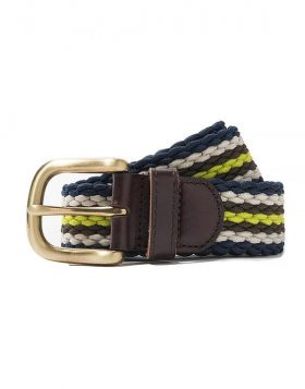 STUSSY – Braided corded belt (Brown)