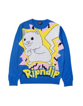 RIPNDIP – Catch Em All Sweater (Blue)